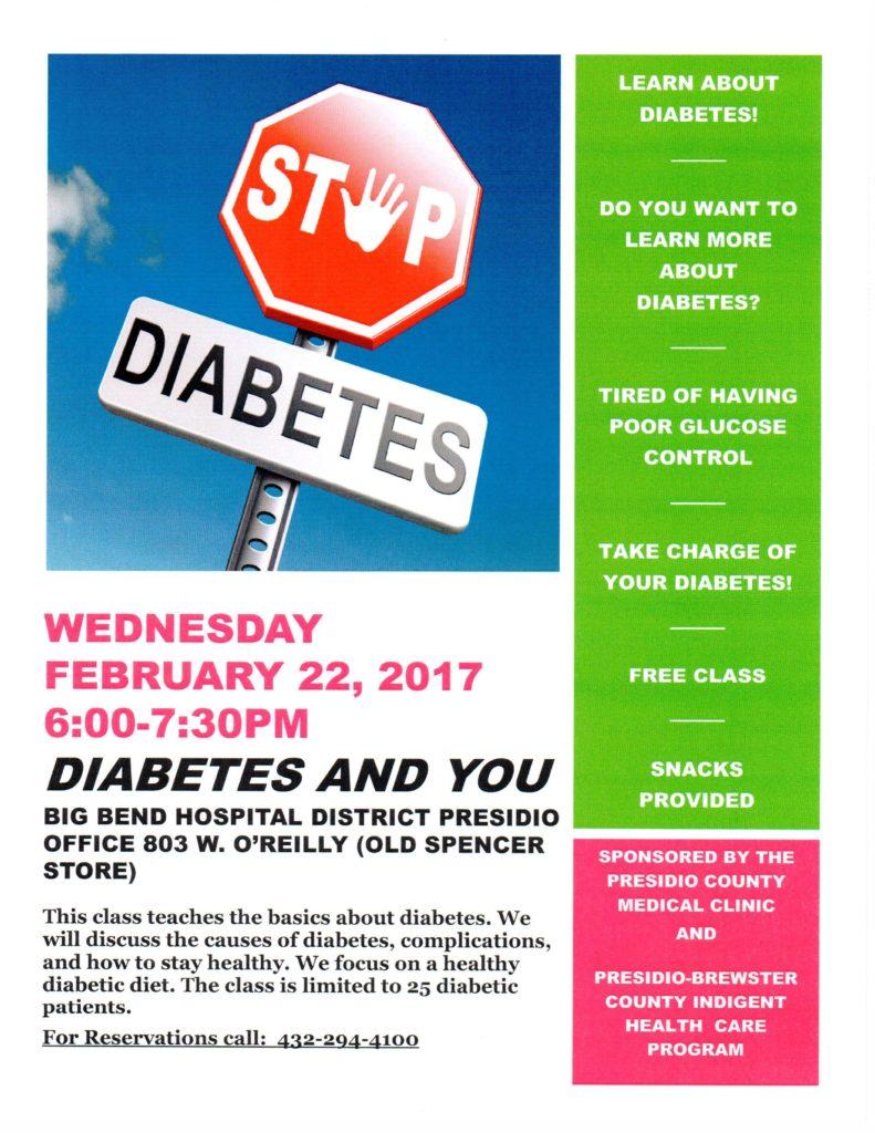 Diabetes Class 2 22 2017