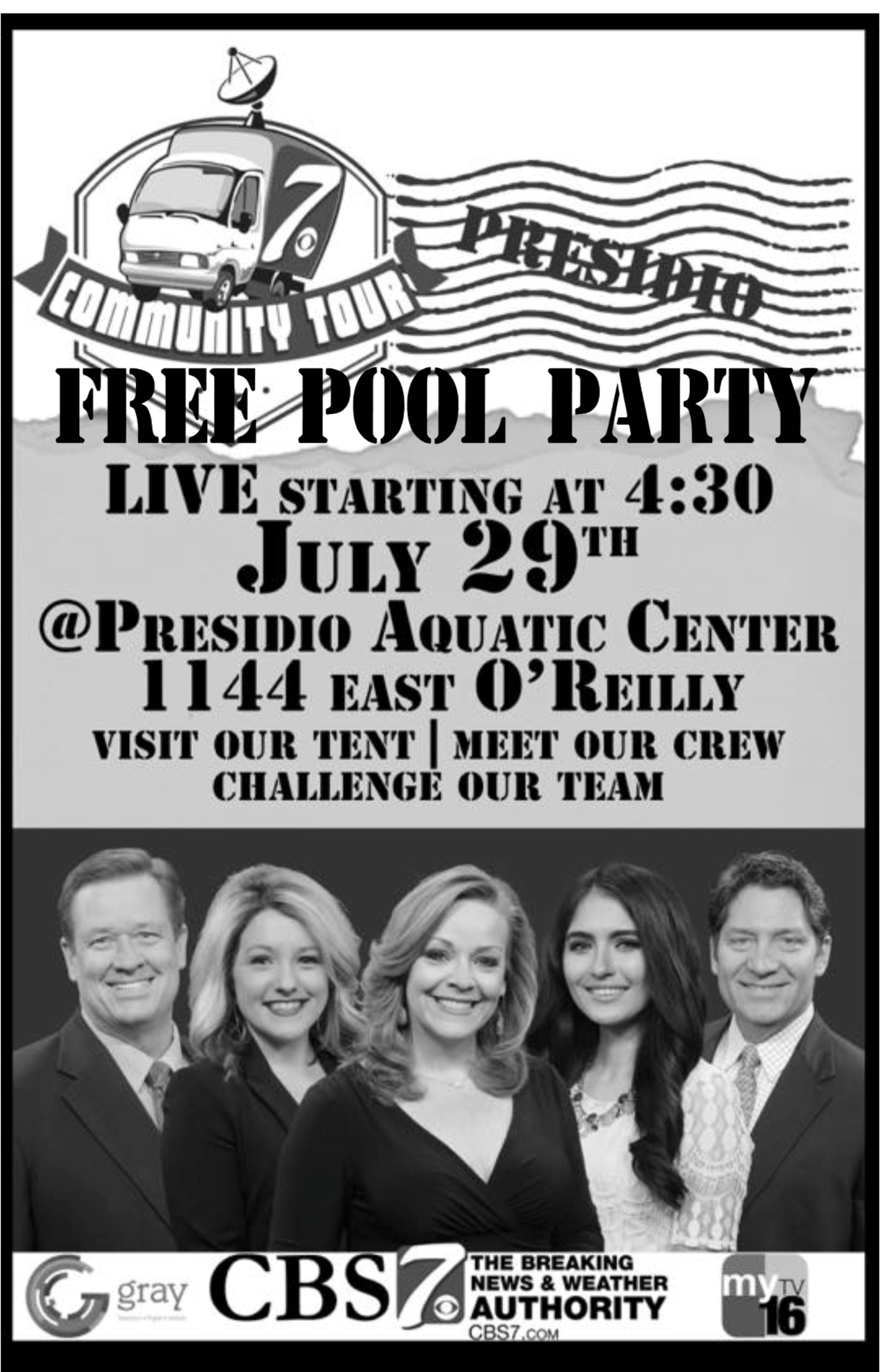 Free CBS 7 Pool Party